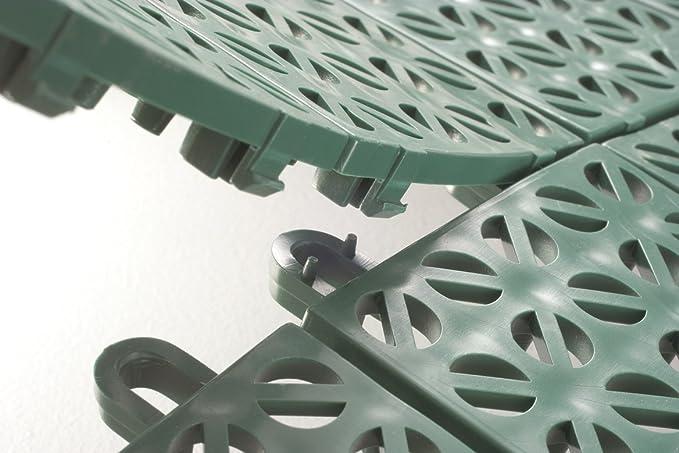 Piastrelle Verdi Plastica Giardino : Multiplate 03mpve piastrelle flessibili plastica 55.5 x 55.5 cm