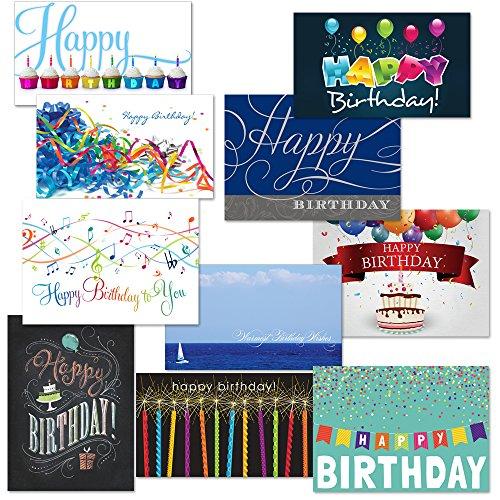Canopy Street Festive Birthday Card Assortment Pack (Set of 50)