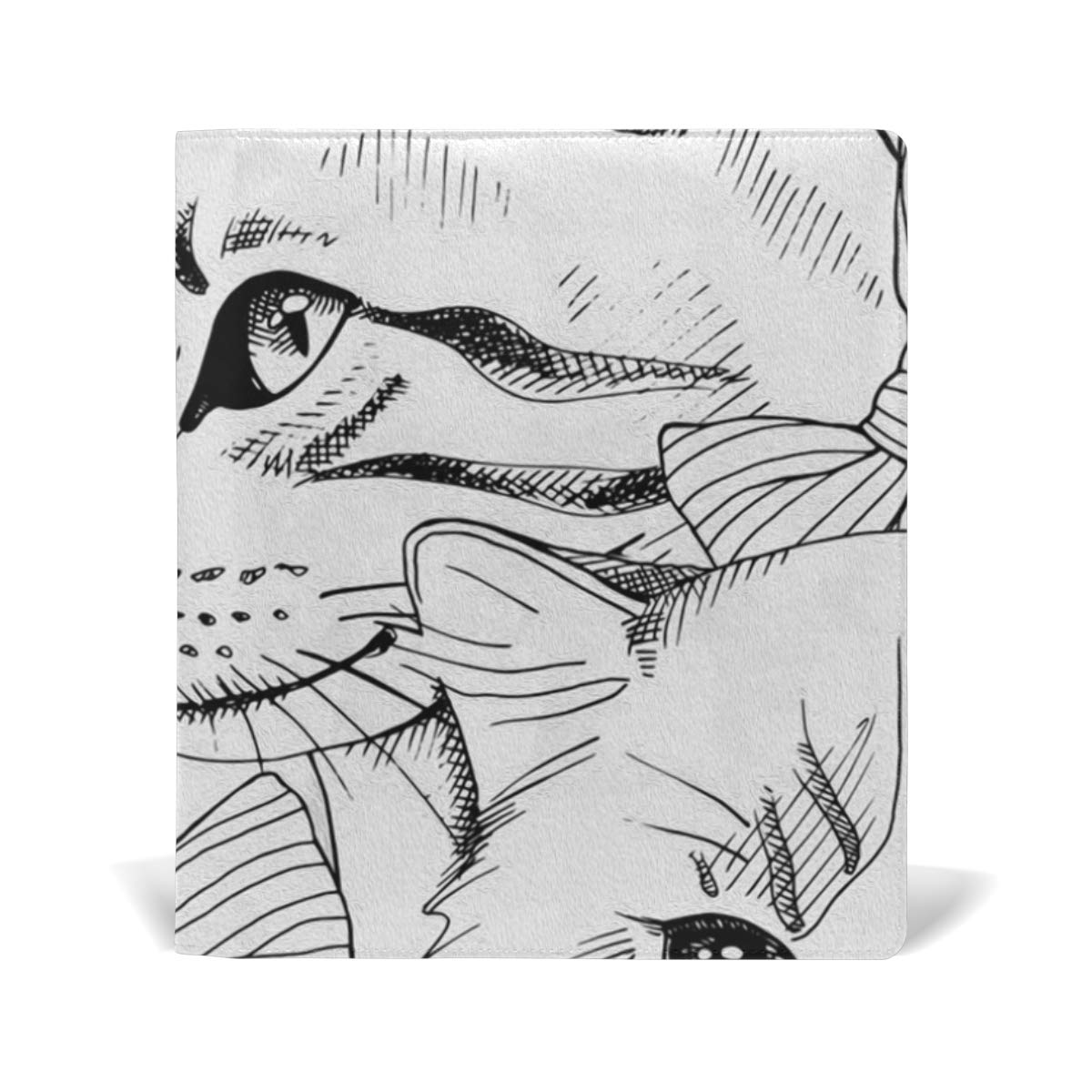 Amazon com book covers cat sketch n draw leather 9 x 11 inches a4 fit for school textbooks hardcover office products