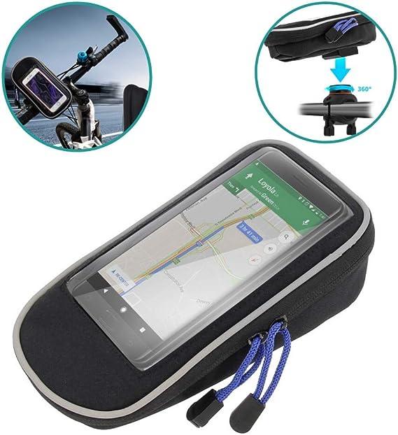 Patabit - Funda para teléfono de bicicleta con soporte para ...