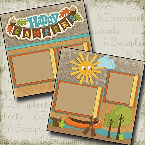 2 12x12 Premade Scrapbook Pages - 1
