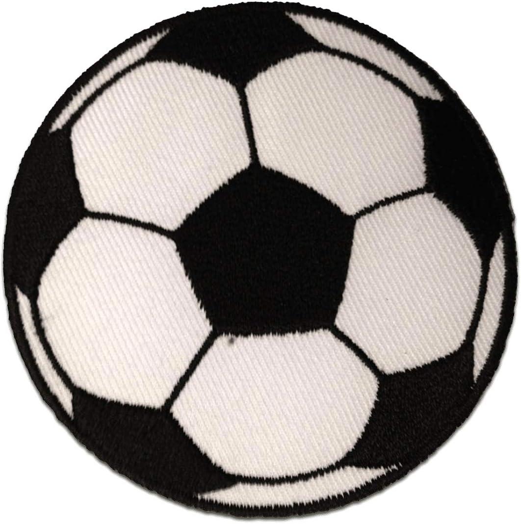 Parches - fútbol - blanco - Ø5,5cm - termoadhesivos bordados ...