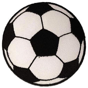 weiß Fußball Patches Aufbügeln Aufnäher // Bügelbild Ø5,5 cm