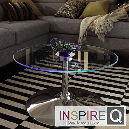 - Metro Shop INSPIRE Q Lorin Cocktail Table Modern LED Accent Table