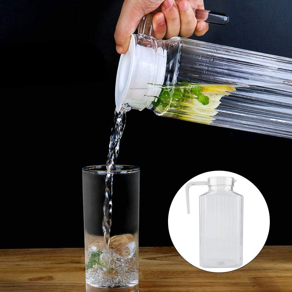 500 ml Botella de pl/ástico acr/ílico Transparente para Zumo de Vino con Tapa para aplicaci/ón en el hogar Duokon Agua fr/ía