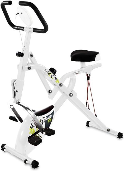 Tecnovita by BH Doublefit Bicicleta D apartamento unisex, color blanco: Amazon.es: Deportes y aire libre