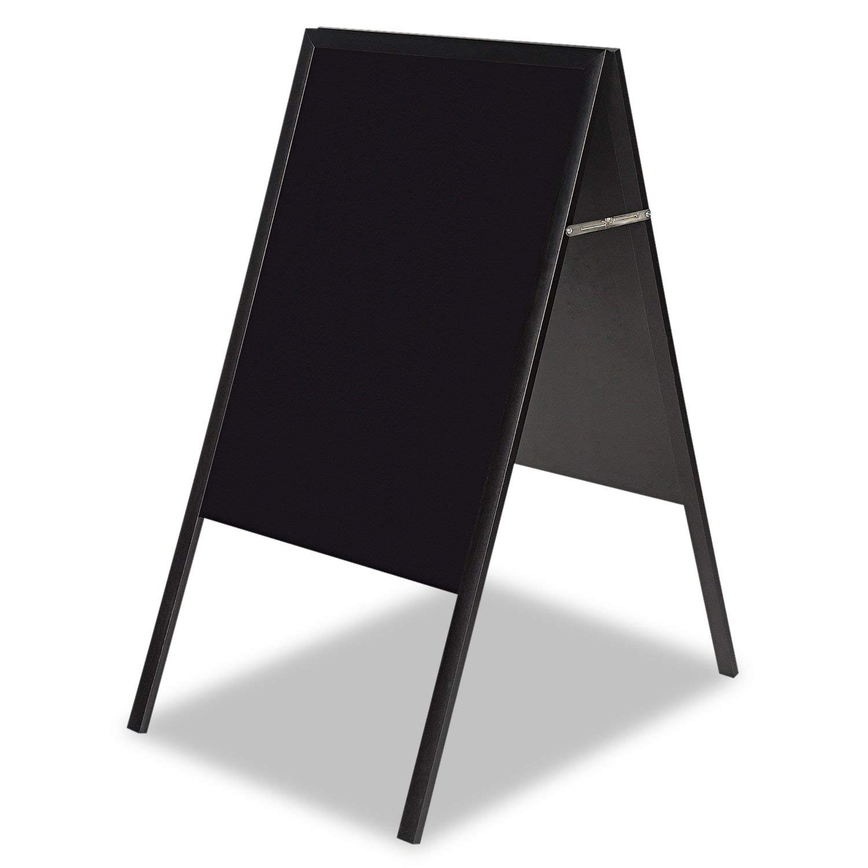 Bi-silque Black Wet-Erase Display Board-Wet-Erase Board, Reversible, 24''x47'', Black/Black