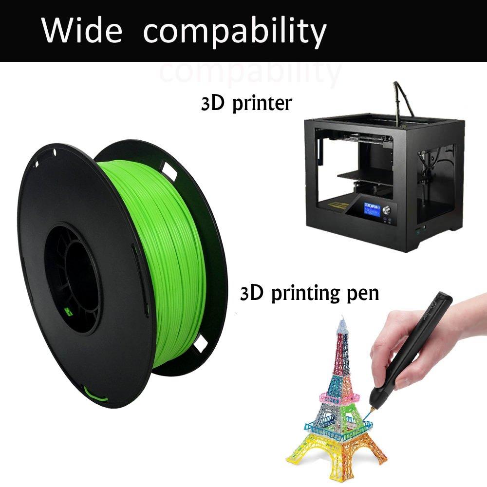 1 kg Spool NOVAMAKER 3D ABS-1KG1.75-GRN ABS 3D Printer Filament Green Dimensional Accuracy +//- 0.03 mm 1.75 mm