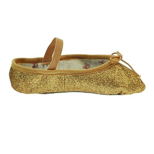 Bloch 225GG Gold Glitterdust Zapatillas de Ballet 8 s: Amazon.es: Zapatos y complementos