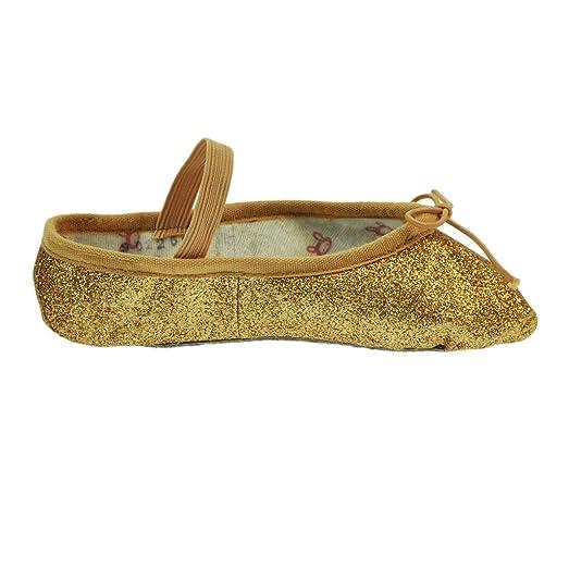 Bloch 225GG Gold Glitterdust Zapatillas de Ballet 7.5 s g5fLNN