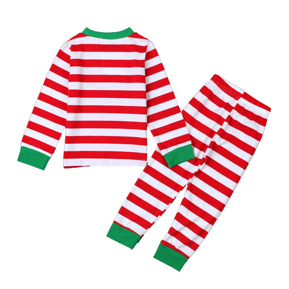Unisex Toddler Boys Girls Stripes Two Piece Sleepwear Nightwear Pajamas Set Baby Pajamas Set