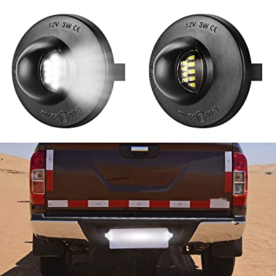 Fancytimes License Plate Light LED Lamp Assembly 2-Pieces, Replacement For Ford F-150 F-250 F-350 F-450 F-550 Superduty Ranger Explorer Bronco Excursion Expedition: Automotive