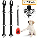 Kytely Dog Doorbells for Potty Training, 2 Pack Potty Dog Bells with One Clicker and 7 Extra Loud Bells Adjustable for Puppy Training, Housebreaking