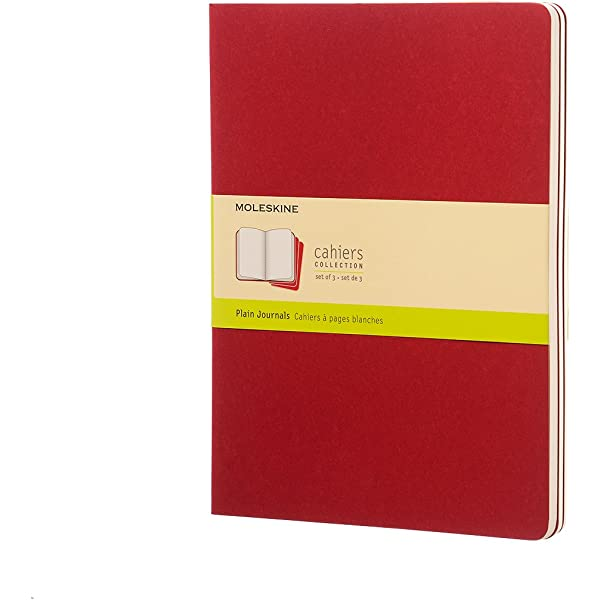 Moleskine CH123 - Set de 3 cuadernos, XL 19 x 25, color rojo ...