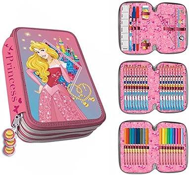 Astro- Princesas Disney Estuche plumier con Tres Pisos (AST4818): Amazon.es: Juguetes y juegos