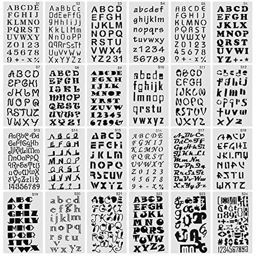 script number stencil - 5