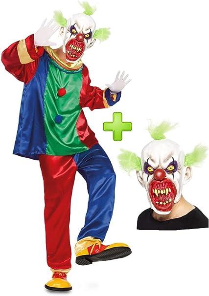 Disfraz de Payaso Asesino colores con mascara: Amazon.es: Ropa ...