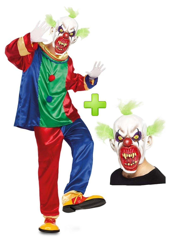 Disfraz de Payaso Asesino colores con mascara: Amazon.es ...