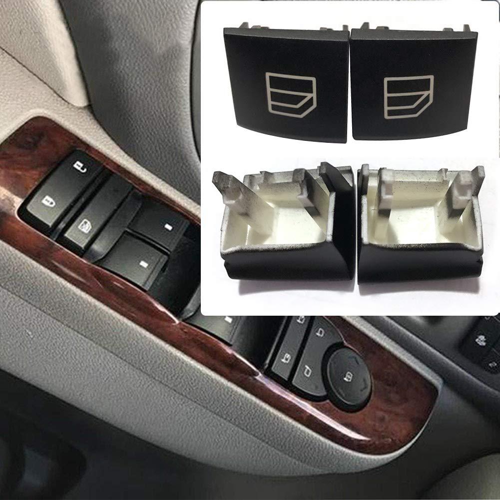 Festnight 8Pcs Tappo Pulsante Interruttore Finestra Benz Pulsante di interruzione Interruttore Finestra Driver Cappuccio Sinistro e Destro per Mercedes Classe B W245 ML Classe GL R