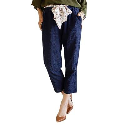 (sawa a la mode)サワアラモード レディース ストール付き 小花 刺繍 パンツ