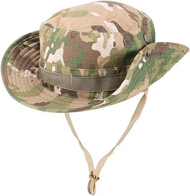 Fisherman hat hat Hunting Outdoor Wide Brim Camo Mens Fishing Sun  Hat