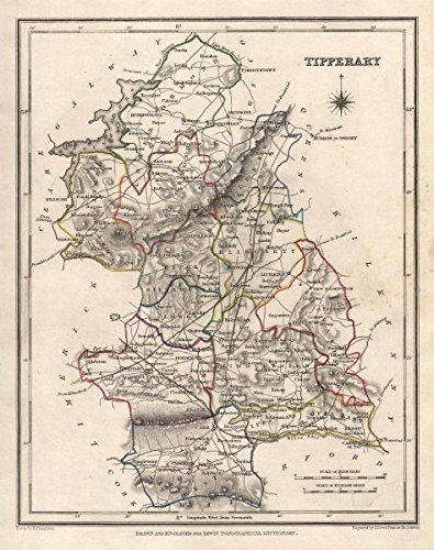 County Tipperary Ireland Map.Amazon Com County Tipperary Antique Map For Lewis By Creighton