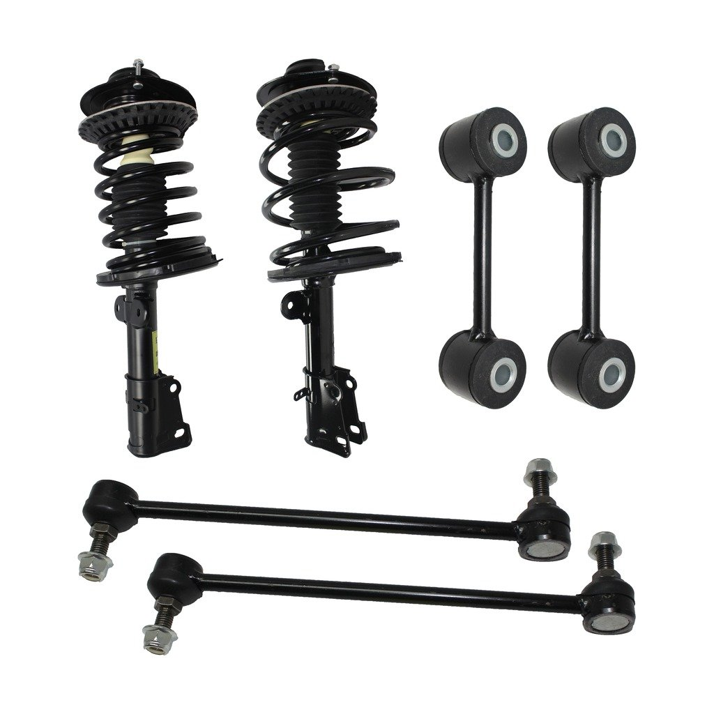Detroit Axle - New 6pc Kit - Both (2) Complete Front Quick Strut Assembly, All (4) Front & Rear Sway Bar End Links - Chrysler & Dodge Mini-Van's 10-Year Warranty by Detroit Axle