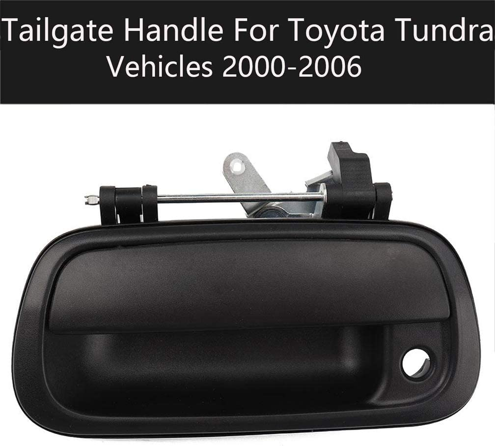 Tailgate Handle Liftgate Latch Handle with Keyhole Pickup Rear Exterior Textured Door Handle by KAREN Replaces 690900C010 69090-0C010 TO1915110 for 2000-2006 Toyota Tundra