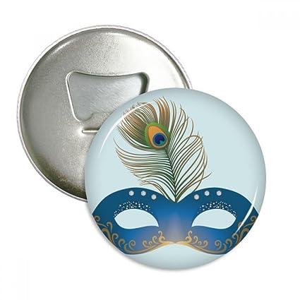 DIYthinker Pluma Azul Máscara de Carnaval de Venecia Feliz Coaster la Taza de cerámica Titular de