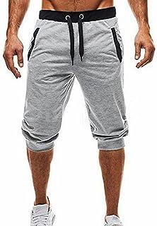 UOMOGO Uomo Pantaloncini Sportivi Bermuda Jogging Tasche Sportivo Casuale Cordone, 3/4 Legging, Pantaloni Sportivi