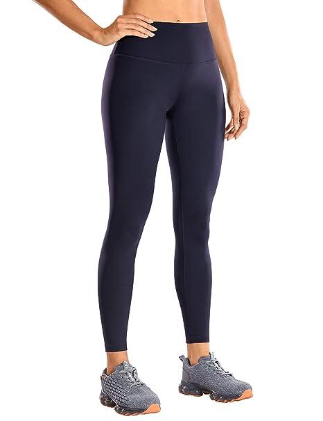 CRZ YOGA Mujer Mallas Largos Leggings Deportivos Cintura Alta con Bolsillo-63cm