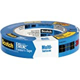 "3M Scotch-Blue 2090 Safe-Release Crepe Paper Multi-Surfaces Painters Masking Tape, 27 lbs/in Tensile Strength, 60 yds Length x 2"" Width, Blue"