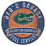 Florida Gators Dad's Garage 12'' Circle Wooden Sign