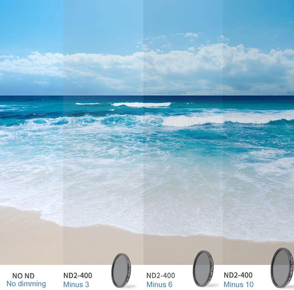 Nouvelle G/én/ération Filtre Professionnel//Filtres de Lentille//Fader ND2-400 Filtre//Densit/é Variable Gris Neutre ND2 /à ND400 pour DSLR Lens 58mm