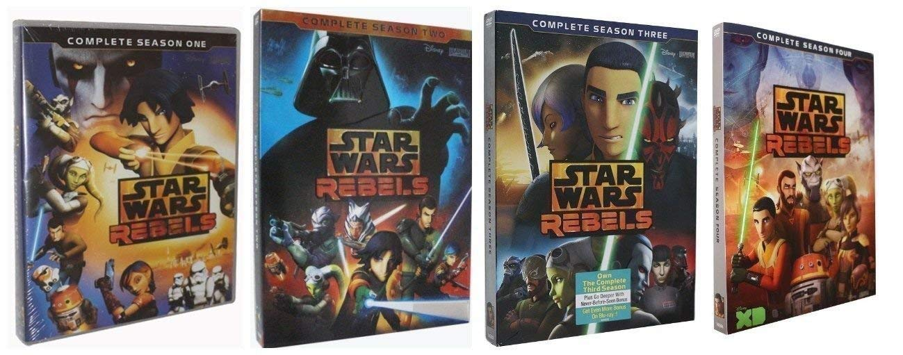 Star Wars Rebels: Complete Series Seasons 1-4 DVD by Mega Media (Image #1)