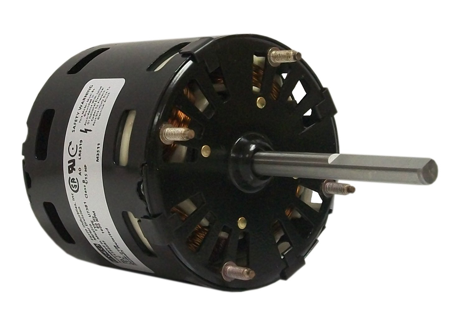 Fasco D109 3.3-Inch General Purpose Motor, 1/15 HP, 115 Volts, 1600 RPM, 1 Speed, 2.1 Amps, OAO Enclosure, CWSE Rotation, Sleeve Bearing