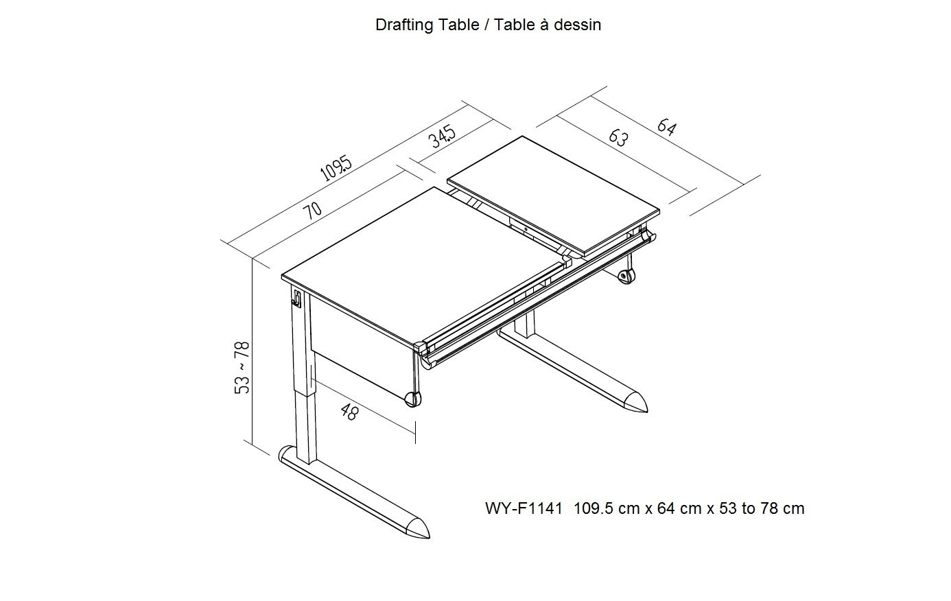 Wymo Kids Drafting Table Height Adjustable Childrens Desk: Amazon.ca: Home  U0026 Kitchen