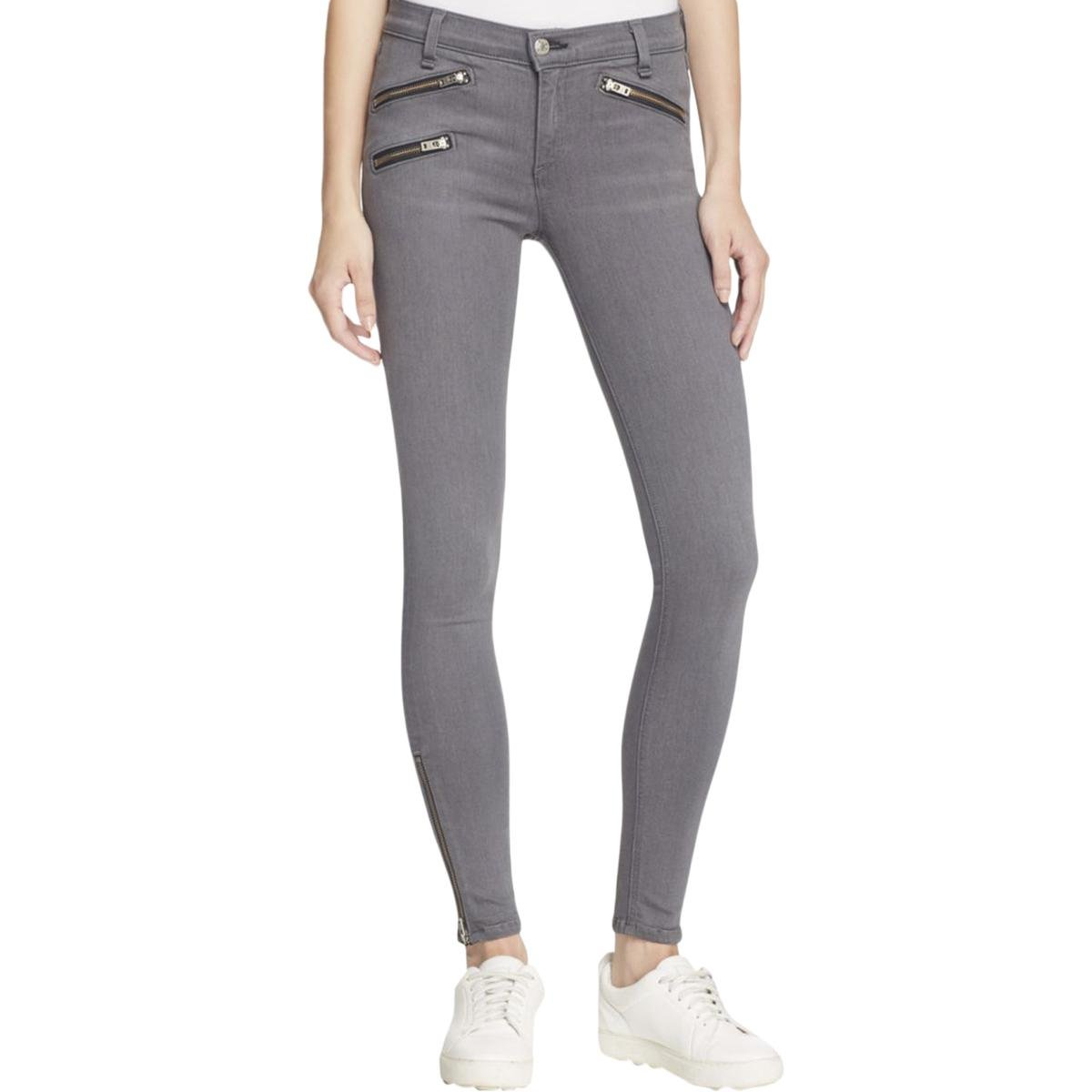 Rag & Bone Womens Zipper Pocket Zipper Flare Pants Gray 26