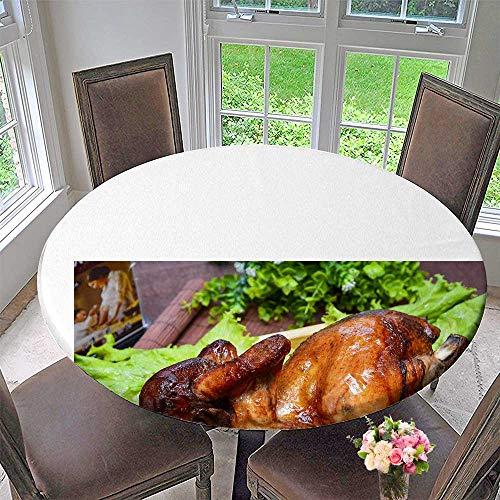 Mikihome Modern Table Cloth Roast Chicken Indoor or Outdoor Parties 47.5