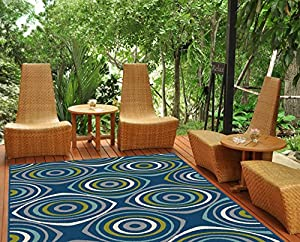 Amazon Universal Rugs Indoor Outdoor Geometric 5 ft
