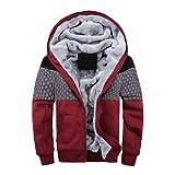 XOWRTE Men's Fleece Zipper Winter Warm Hoodie