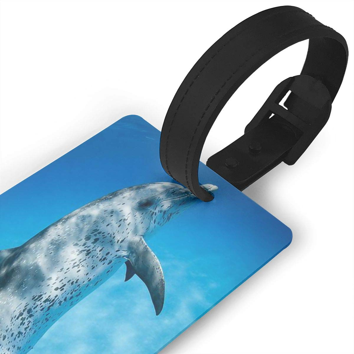 Dolphins Ocean Baggage Tag For Travel Tags Accessories 2 Pack Luggage Tags