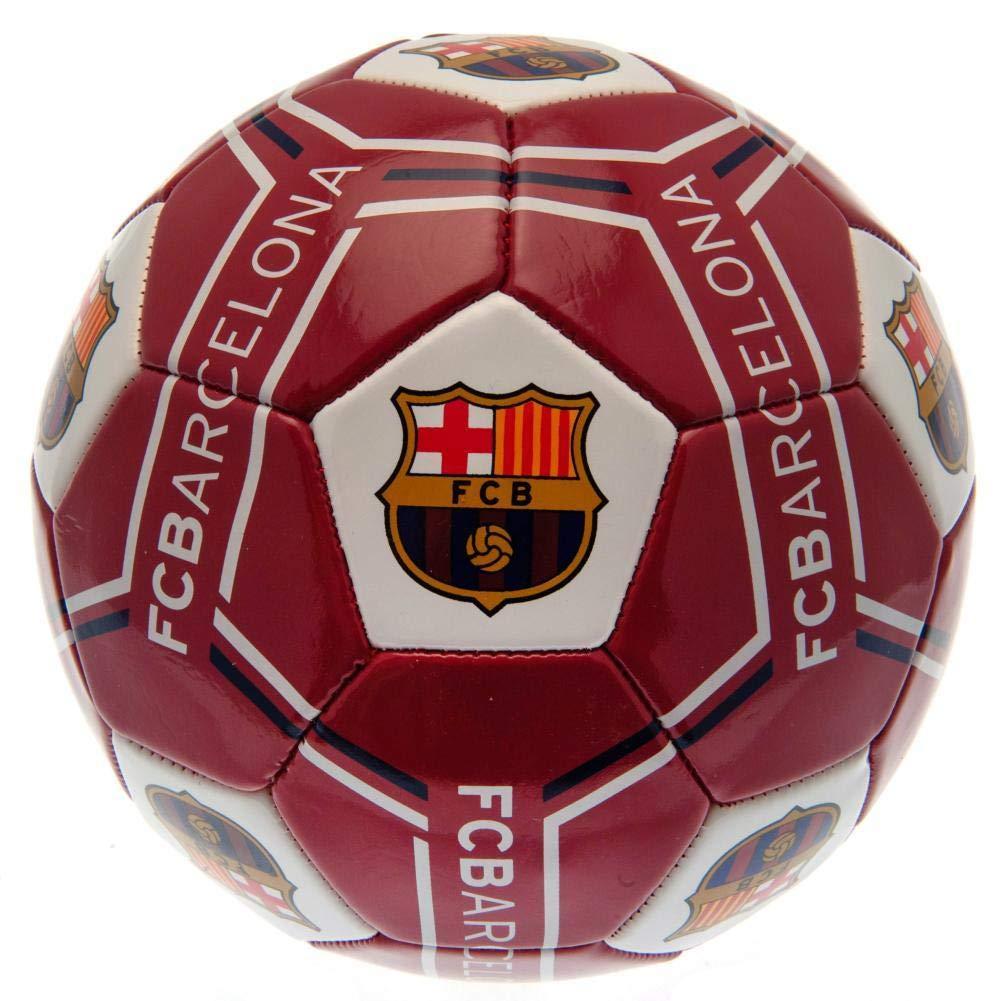 FCB FC Barcelona - Balón modelo rayas (Talla 5) (Vino): Amazon.es ...