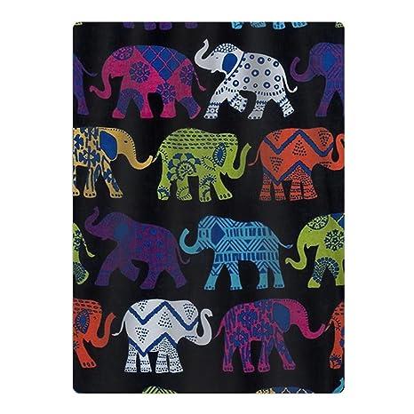Nuevo Negro elefantes toalla de playa de microfibra – apto para piscina, playa, camping