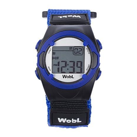 WobL Watch Azul- Reloj con 8 alarmas o vibraciones, recordatorio, para controlar el