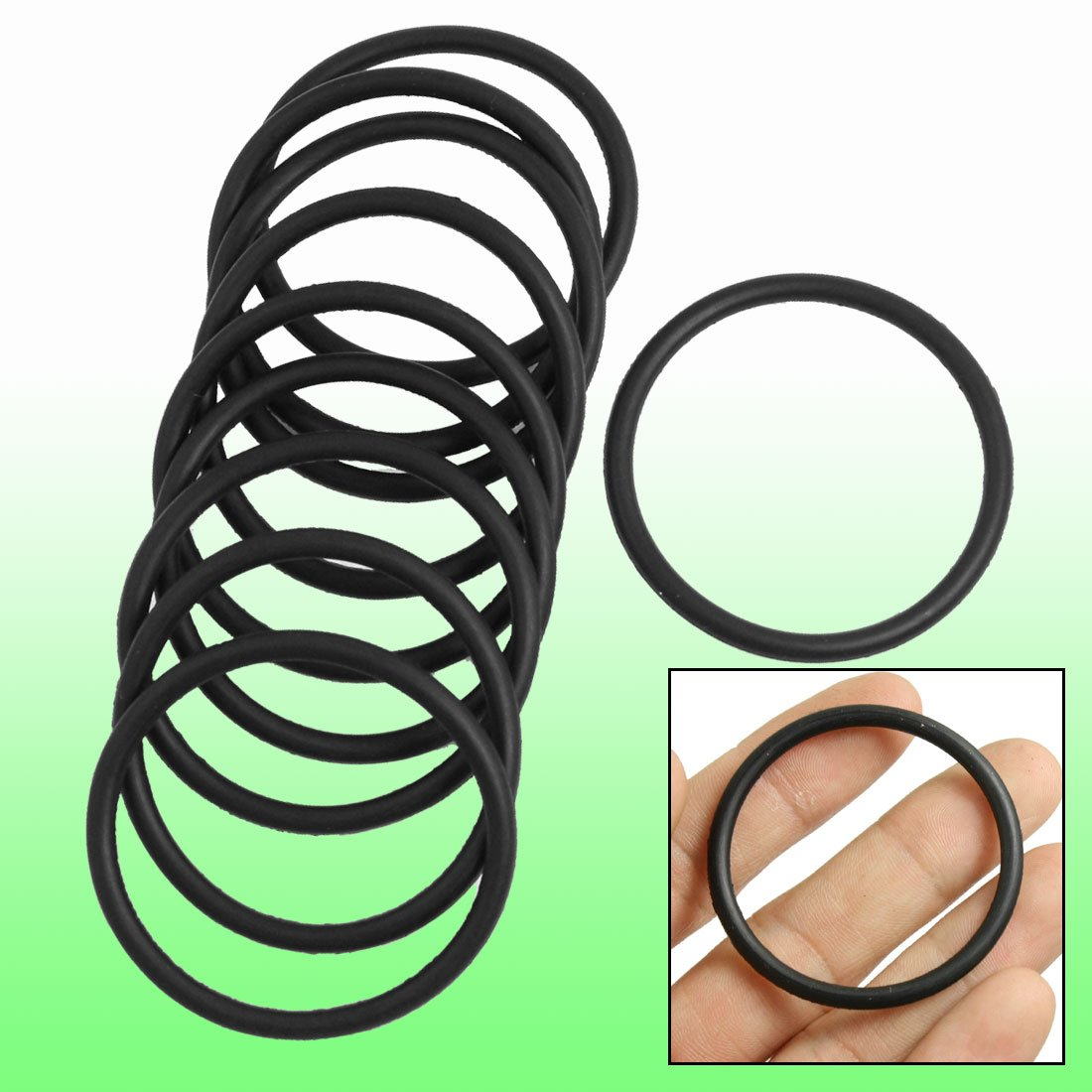 10 Pcs 3mm x 43mm Rubber Sealing Oil Filter O Rings Gasket Black
