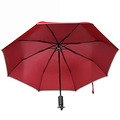 4 in 1 Multi-function Travel Umbrella with Emergency Hammer Compass Light Reflective Cutter Car Safety Umbrella Windproof Waterproof Rain Umbrella