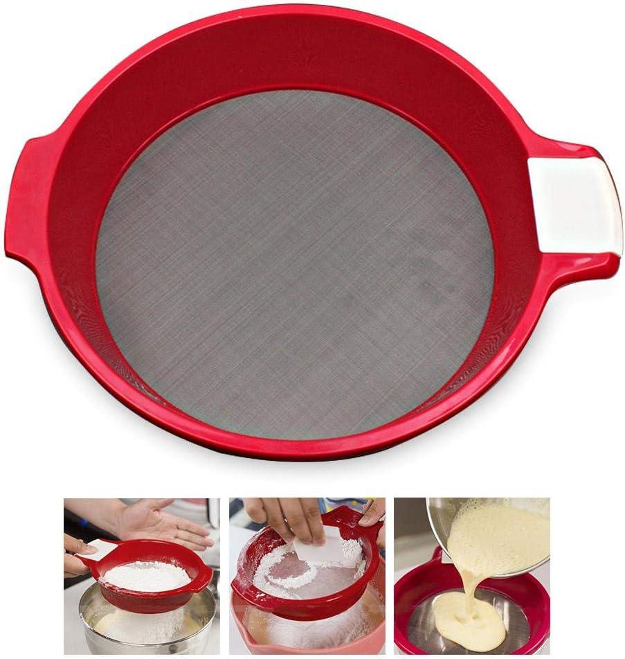 Werkzeug K/üchensieb aus Edelstahl mit feinem Mesh-Abtropfsieb Sieb tragbar /Öl-Frittierl/öffel