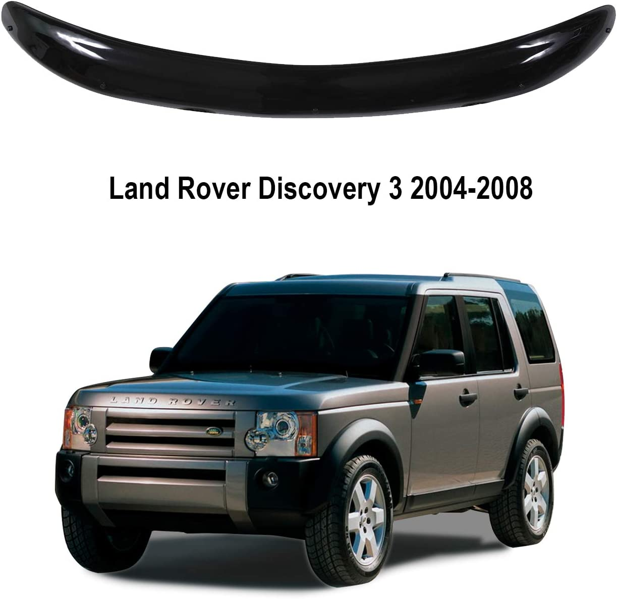 Classic black A-Technic Hood deflector Land Rover Discovery 3 2004-2008