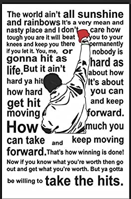 Poster Rocky Balboa Quote Poster Print by A-ONE POSTERS (18 inch X 12 inch, Rolled)
